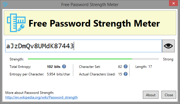Free Password Strength Meter